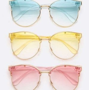 🎀Light color tint round sunglasses